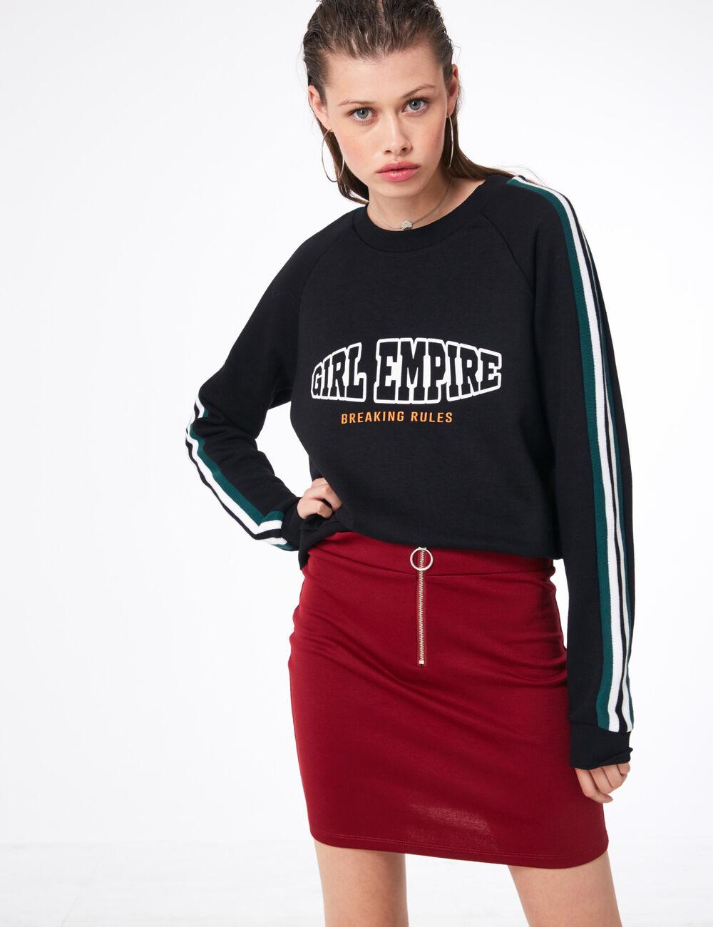 jupe jupe bordeaux zippée tube bordeaux zippée jupe tube n6FnqIz