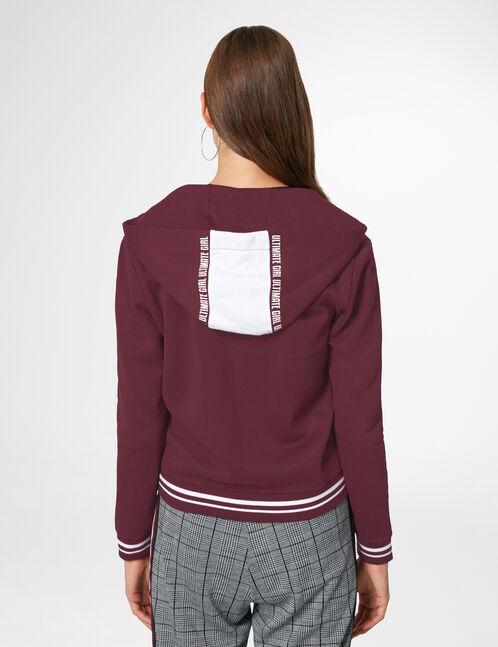 Plum zip-up hoodie