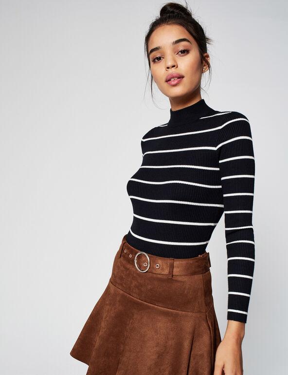 Striped bodysuit jumper