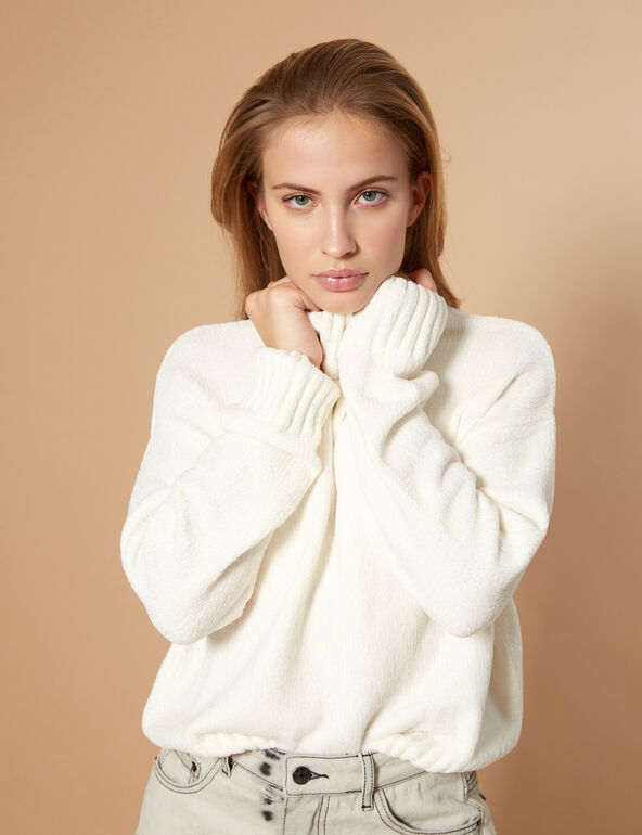 Cropped chenille jumper