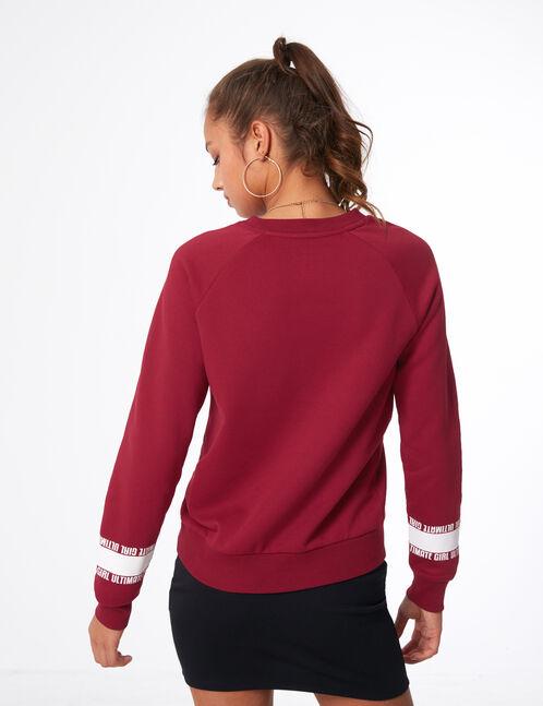 """Burgundy """"ultimate girl"""" sweatshirt"""