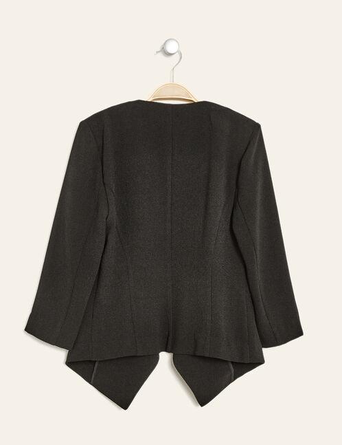 veste jetée en crêpe noire