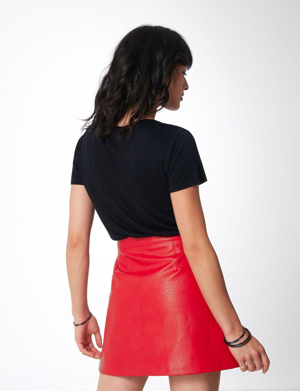 simili jupe jupe jupe simili boutonnée boutonnée rouge rouge simili boutonnée rouge 54gAPw