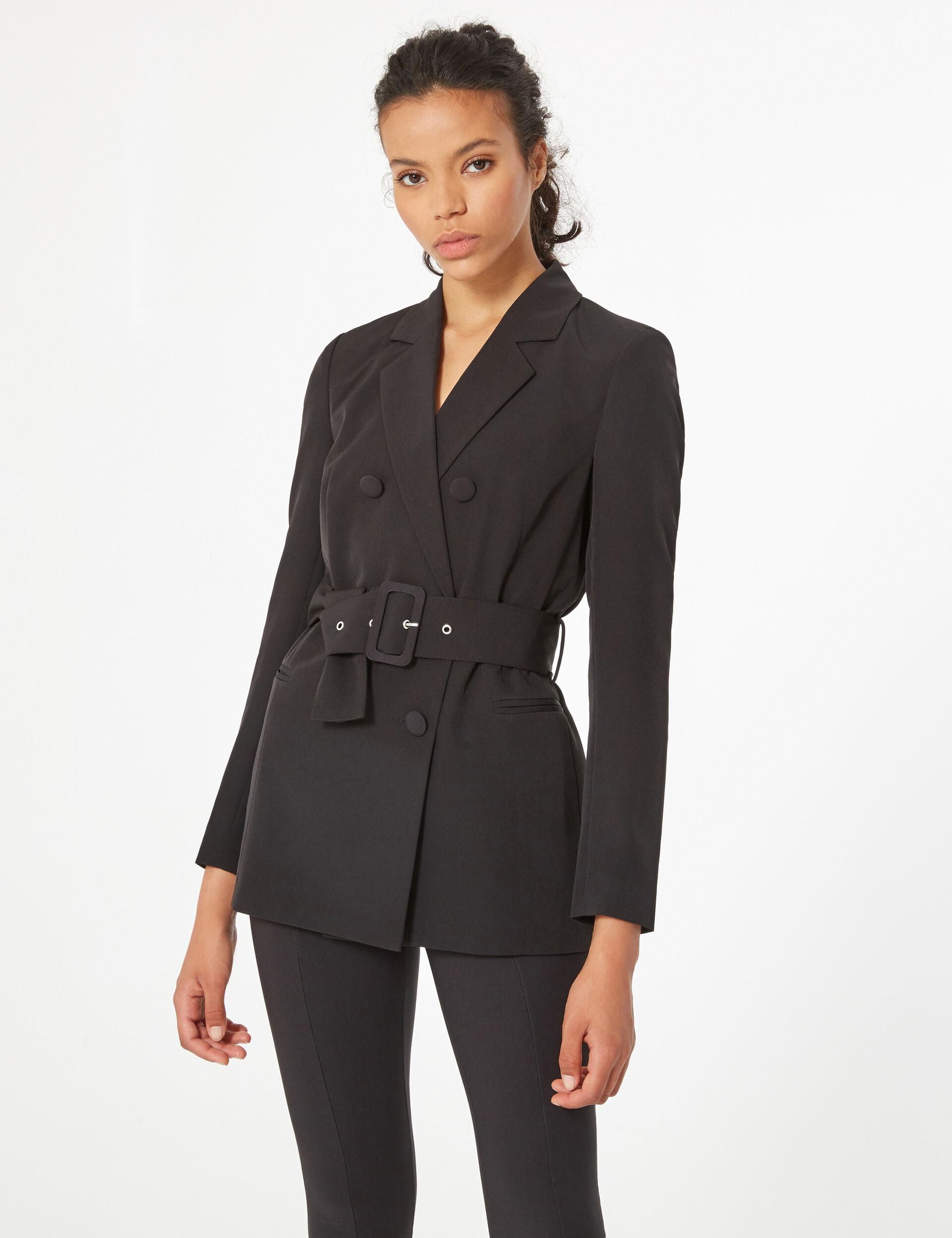Long blazer with belt