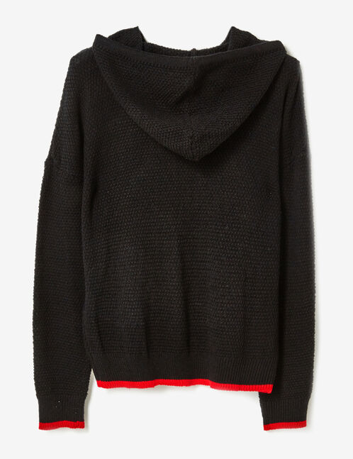 pull w london à capuche noir