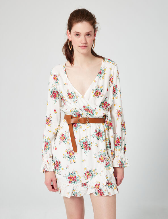 Floral dress with frill detail