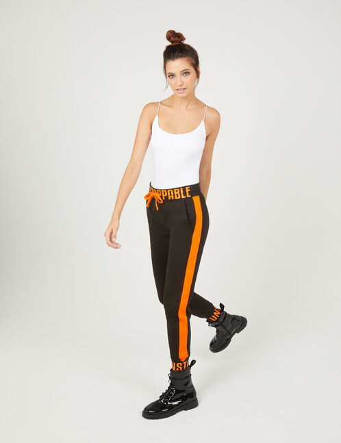 jogging unstoppable noir et orange
