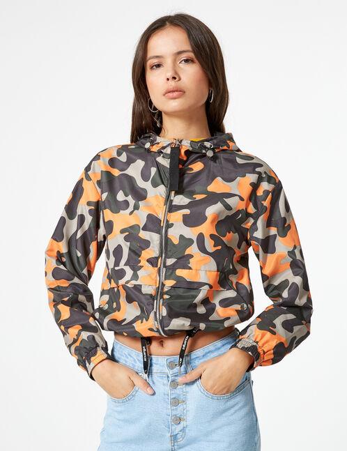 Khaki lightweight camouflage jacket