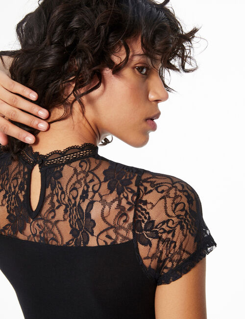 Bodysuit with lace detail