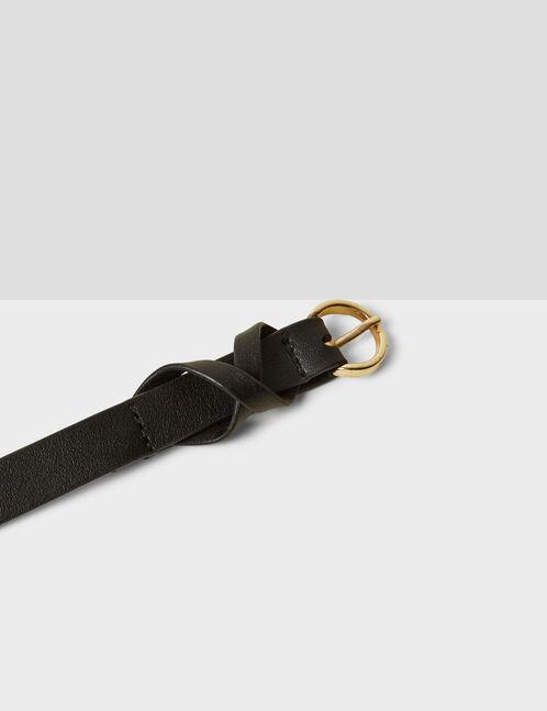ceinture fine noire