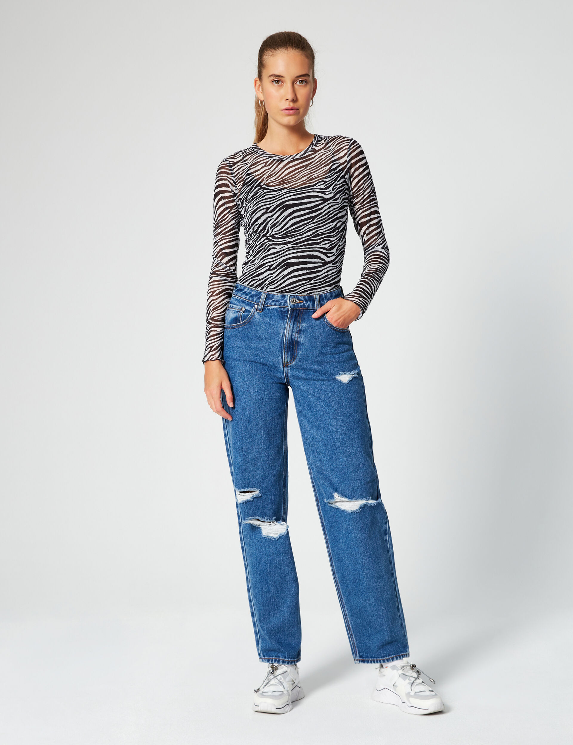 Jean dad taille haute