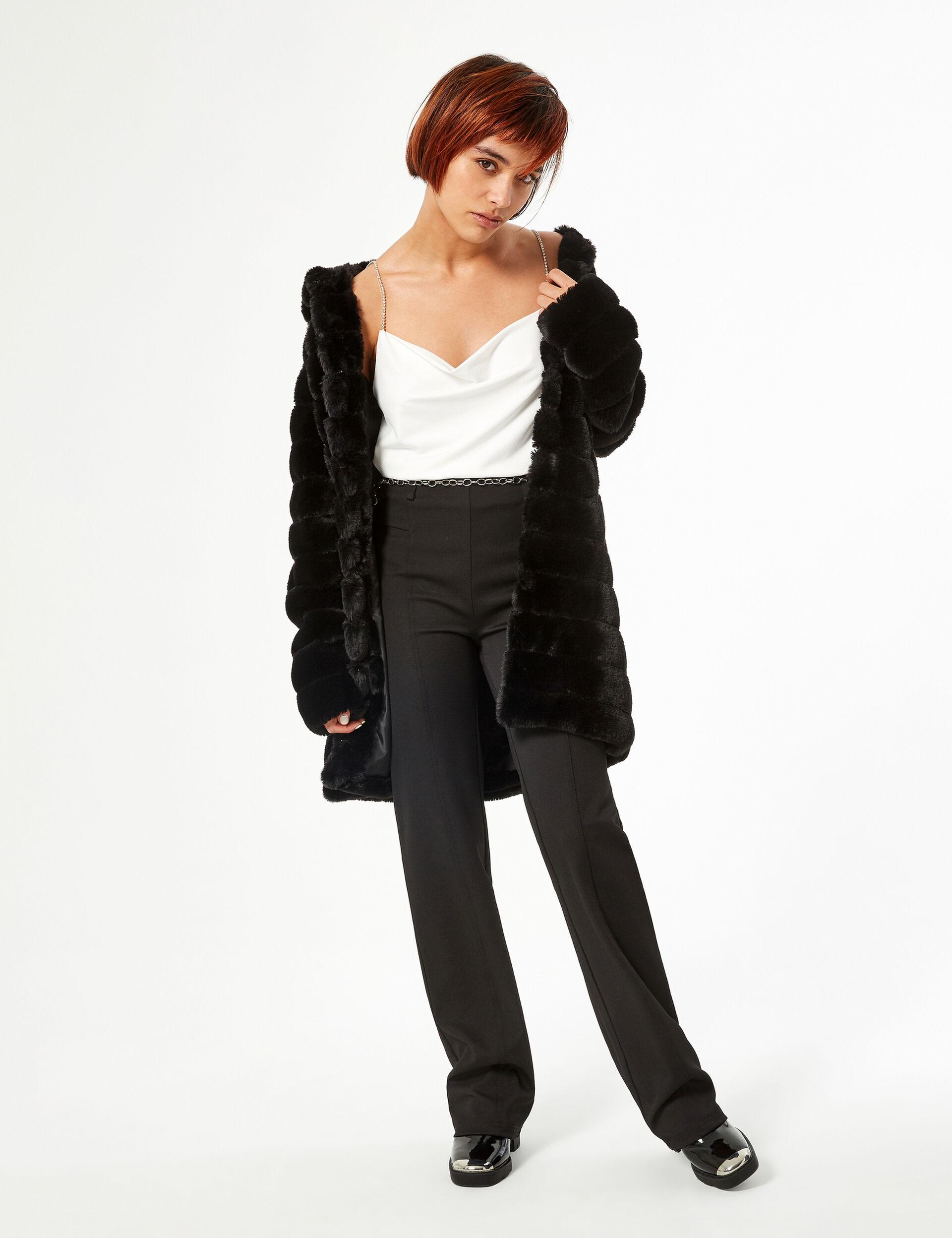 Manteau imitation fourrure long