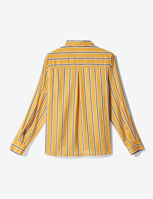 Ochre striped shirt