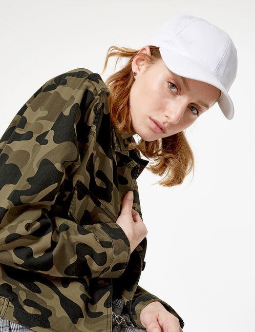 veste courte camouflage kaki