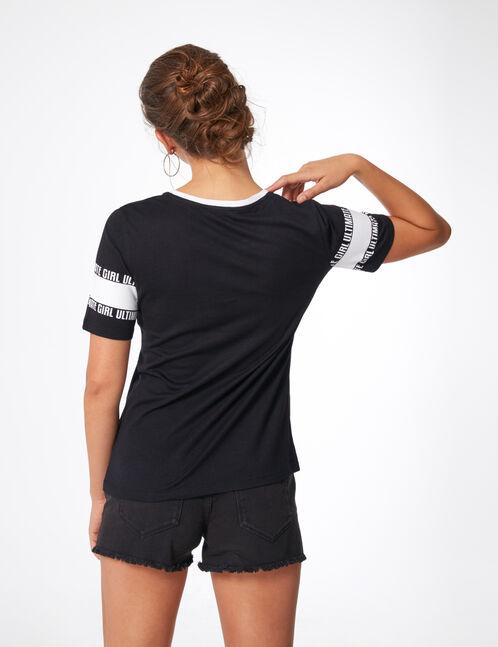 tee-shirt ultimate girl noir et blanc