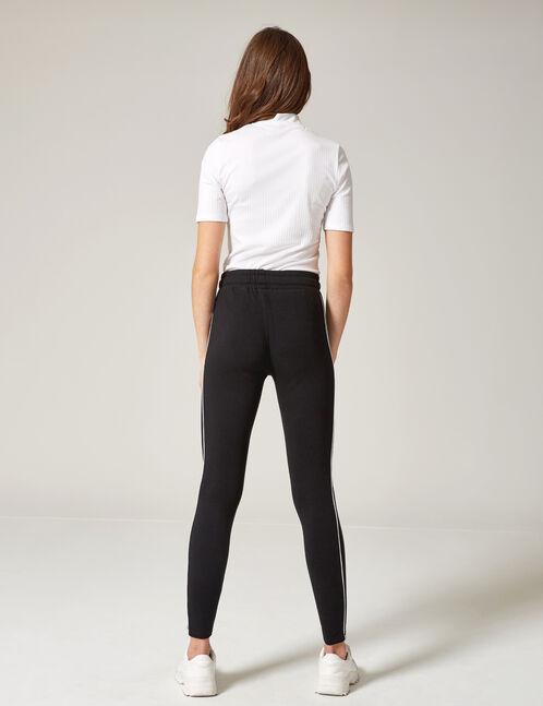 Black slim-fit joggers