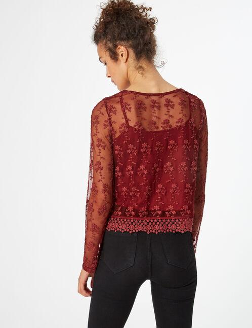 Macramé mesh top