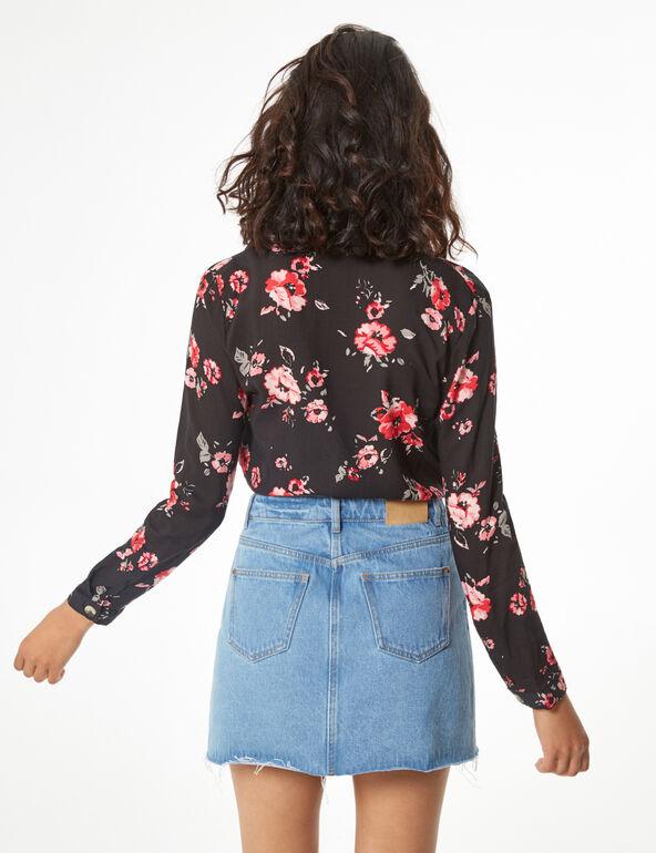 Chemise fleurie à nouer