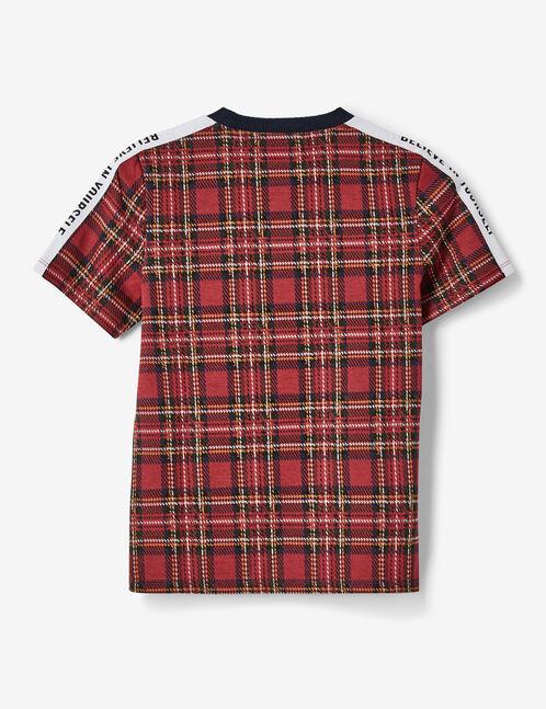 Red tartan T-shirt