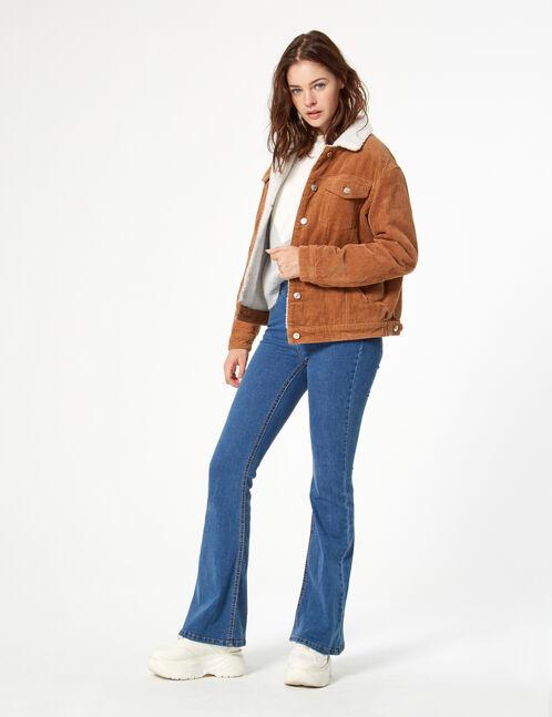 veste velours côtelé