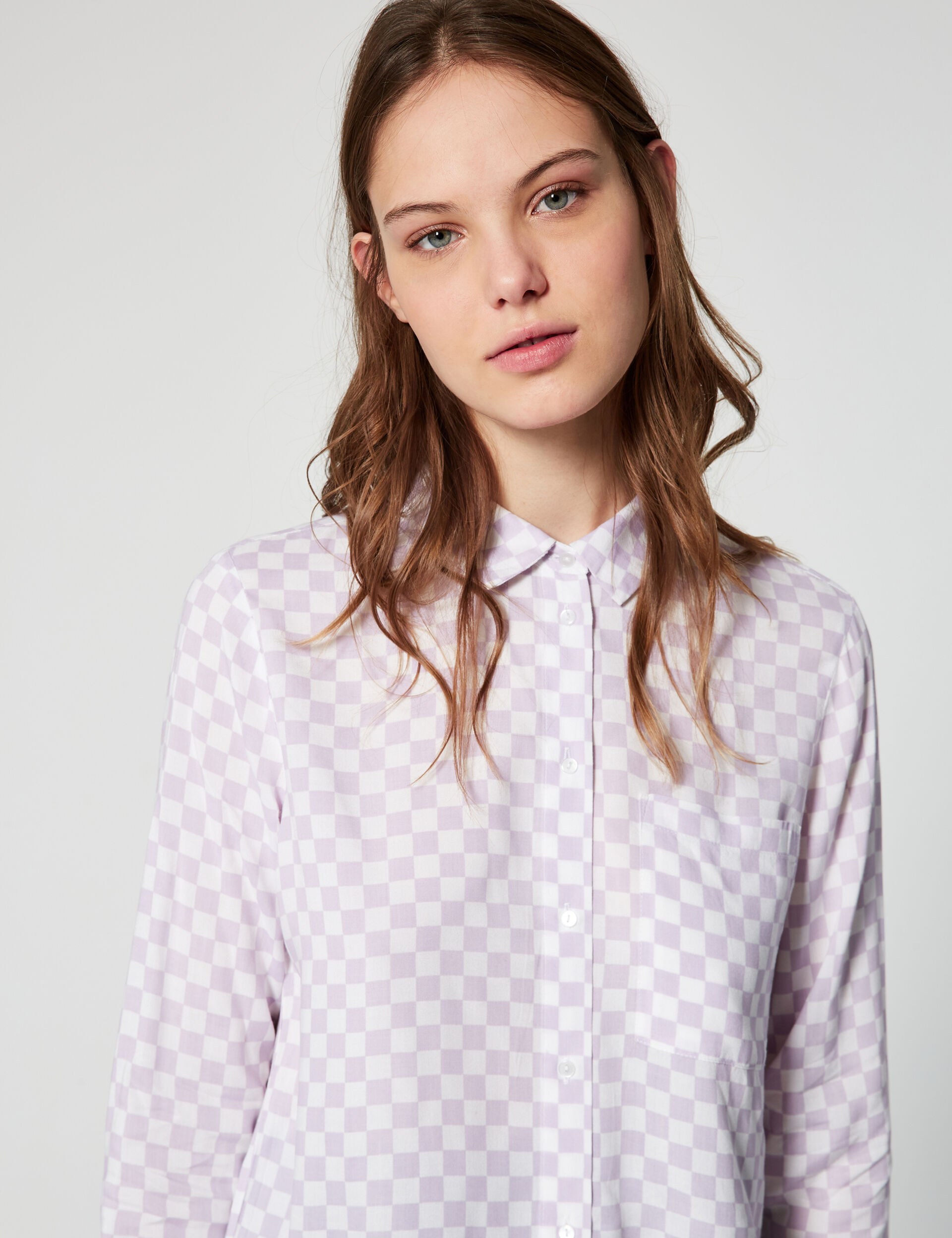 Shirt with checked print