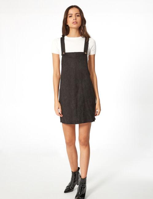 robe salopette suédine noire
