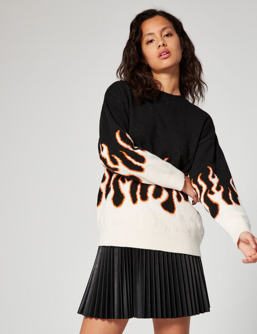 Oversized printed jumper