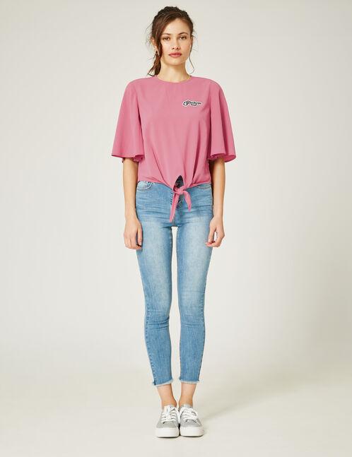 Light blue high-waisted skinny jeans