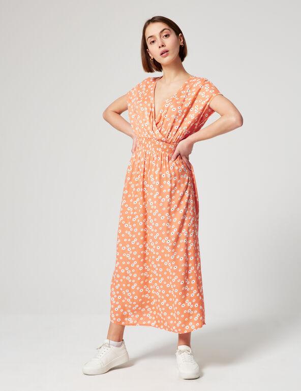 Smocked floral dress