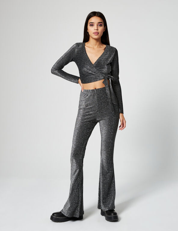 Sparkly flared trousers