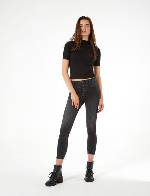 jean avec découpes noir