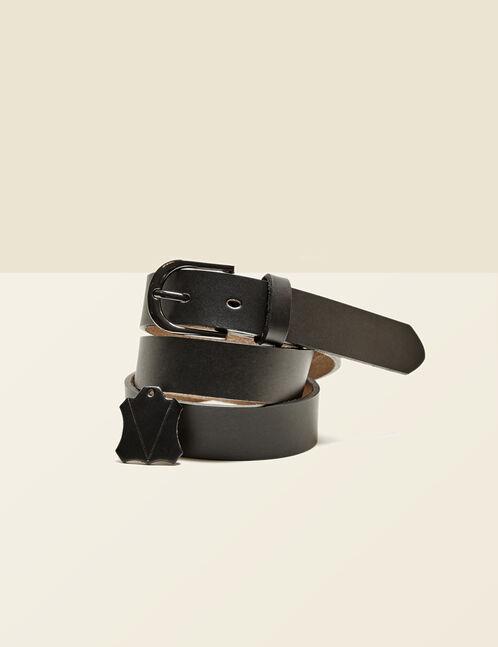 ceinture cuir noire