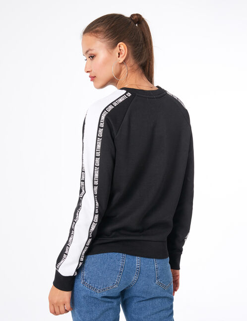 "Black ""ultimate girl"" sweatshirt"