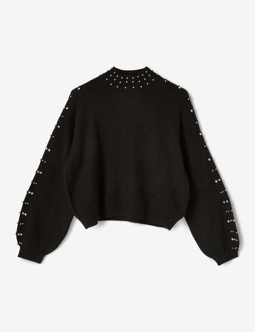 pull avec perles noir