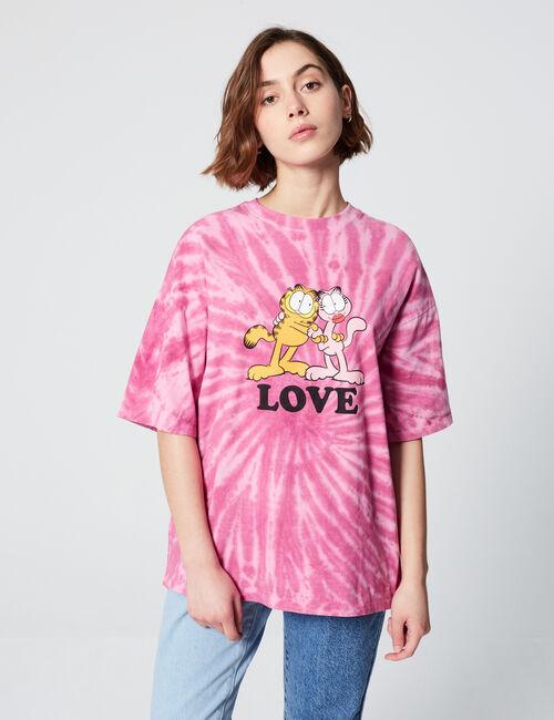 Tee-shirt tie and dye Garfield
