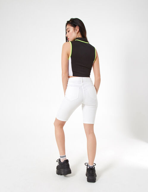 high-waisted crop jeggings