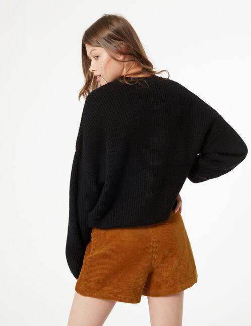 Woven openwork jumper