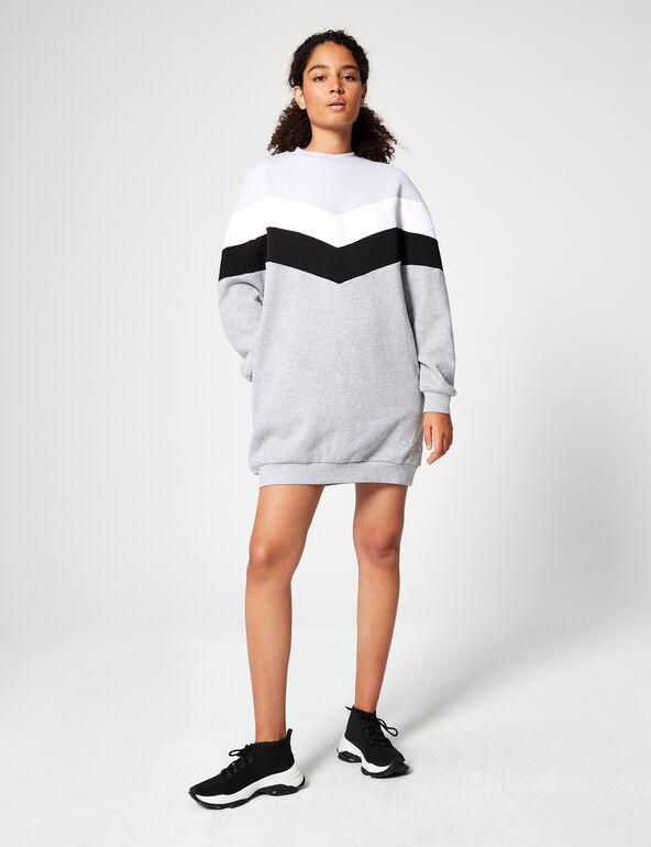 Colourblock sweater dress