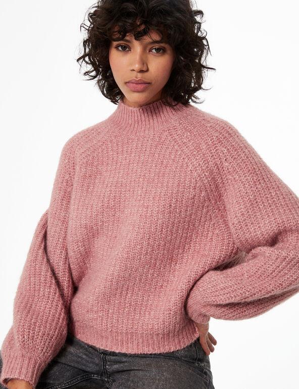 Braided knit jumper