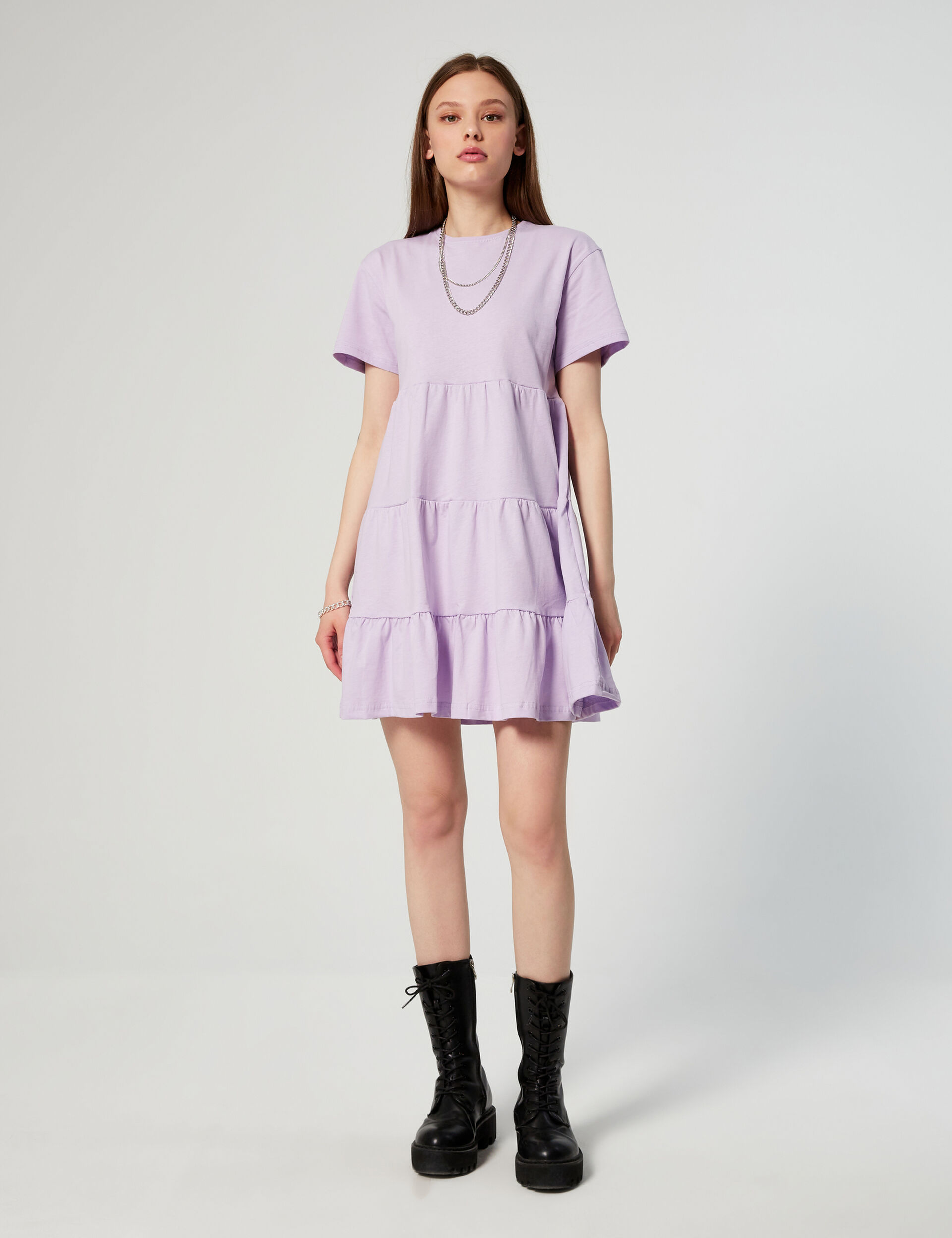 Dress with frill detail