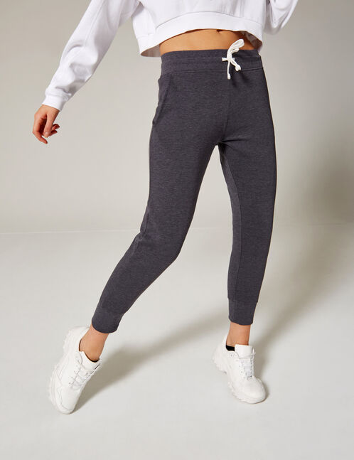 jogging gris anthracite chiné