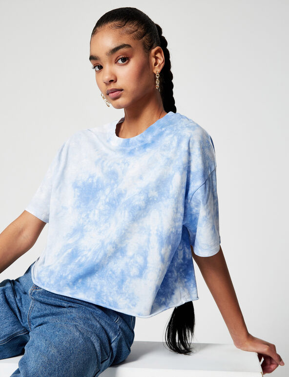 Tee-shirt court imprimé