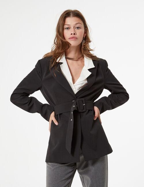 Long belted blazer