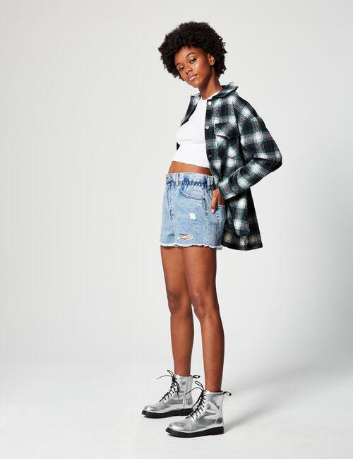 Short en jean taille haute