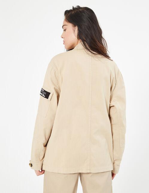 veste cargo beige