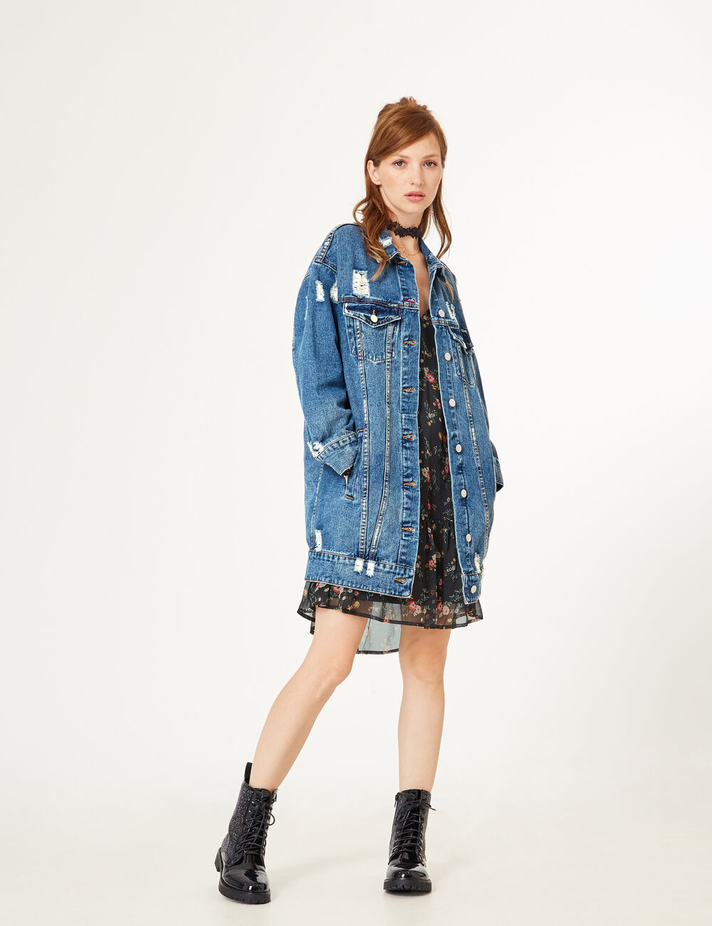 Vest en jean longue femme
