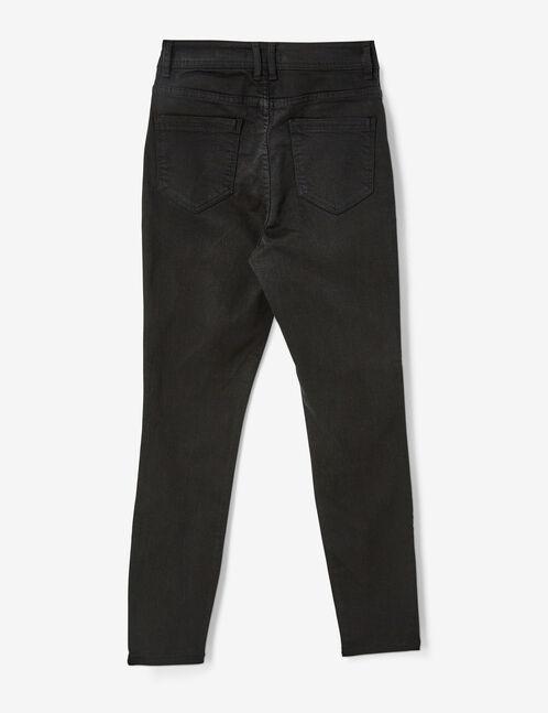 pantalon taille haute gris anthracite
