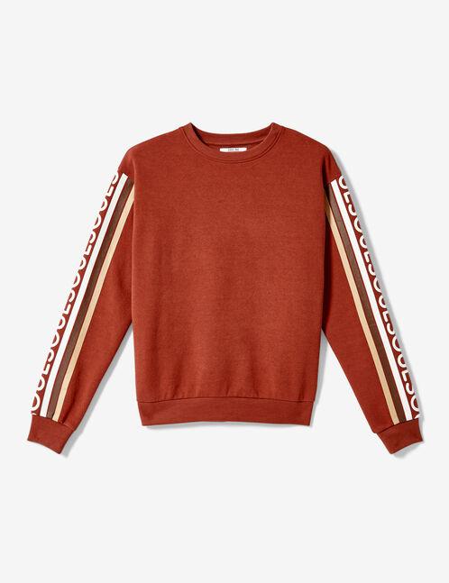 "Rust-coloured ""soul"" sweatshirt"