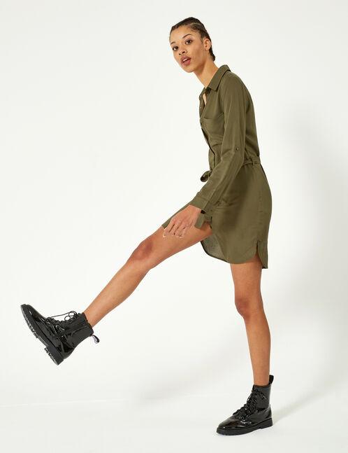 robe chemise kaki