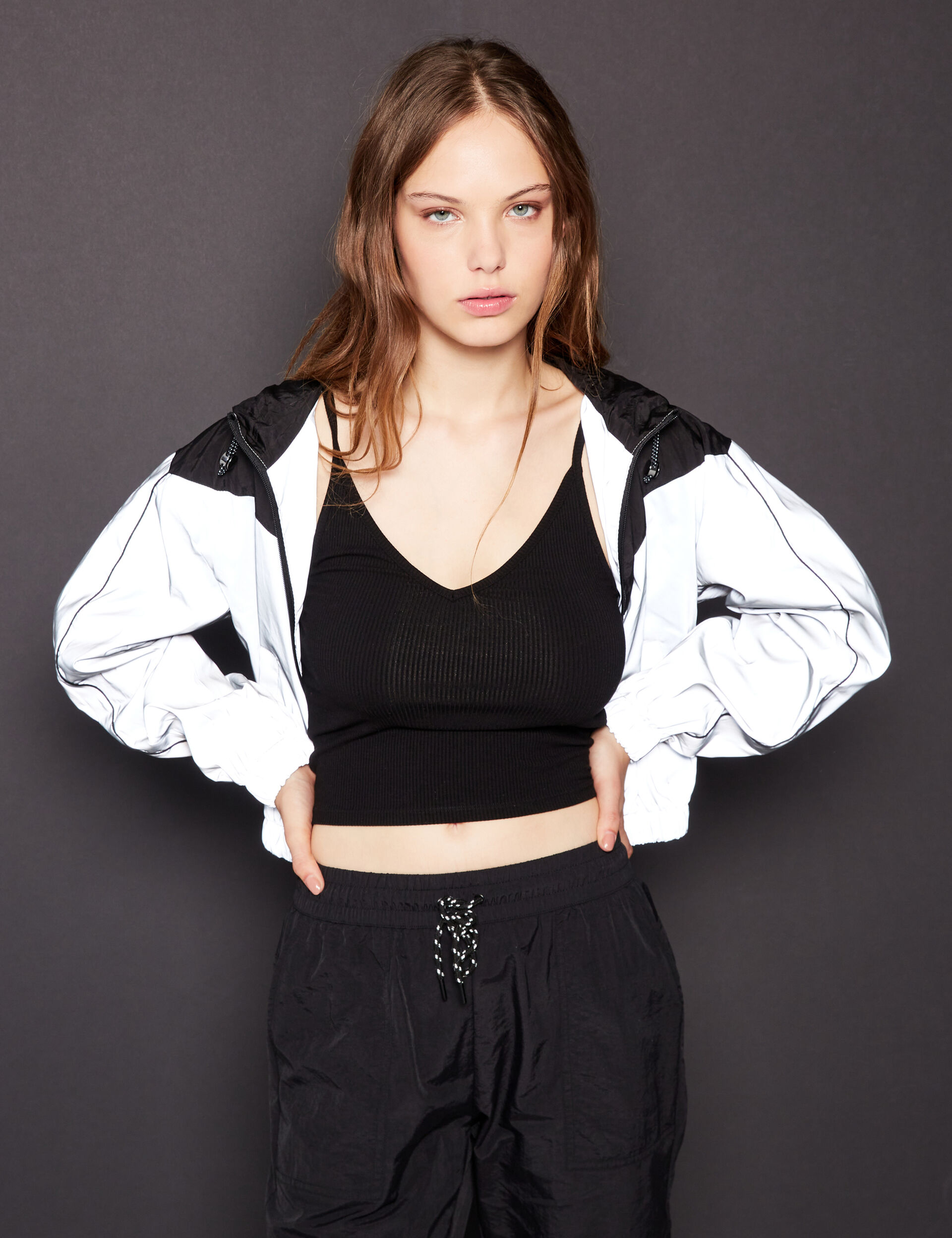 Reflective colour block sweatshirt